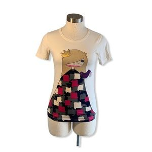 Marc Jacobs T-Shirt Princess Argyle Cream